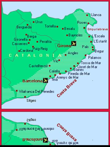 Costa Brava Map Of Spain.Dive Club Empuriabrava Costa Brava Spain About Us